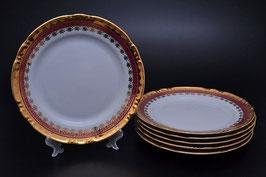 Набор подстановочных тарелок Thun КОНСТАНЦИЯ РУБИН ЗОЛОТО 25 см
