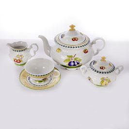 Чайный сервиз Epiag ФРУКТЫ на 6 персон 15 предметов