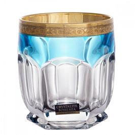 Набор стаканов для виски Bohemia Crystal САФАРИ БИРЮЗА 250 мл