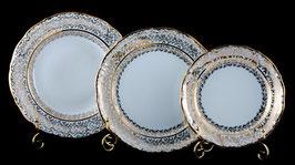 Набор тарелок для сервировки стола Carlsbad ЛИСТ БЕЛЫЙ 18 штук
