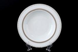 Набор глубоких тарелок Thun ОПАЛ ПЛАТИНА 22 см