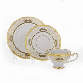 Набор для чая Weimar СИМФОНИЯ ЗОЛОТАЯ на 6 персон 18 предметов ( артикул МН 8613 В )