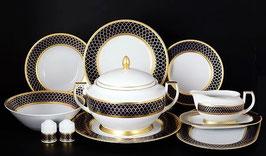 Столовый сервиз Falkenporzellan VALENCIA COBALT GOLD на 6 персон 25 предметов