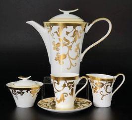 Чайный сервиз Falkenporzellan TOSCA WHITE GOLD на 6 персон 15 предметов