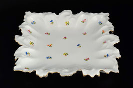Блюдо квадратное СИНИЙ ЦВЕТОК Queens Crown 36 см