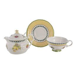 Набор для чая Leander  ФРУКТЫ на 1 персону 2 предмета