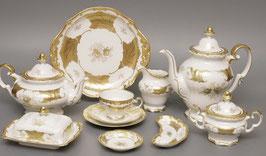 Немецкий Чайный Сервиз Weimar КЛЕНОВЫЙ ЛИСТ БЕЛЫЙ на 6 персон 21 предмет ( артикул МН 3824 В )