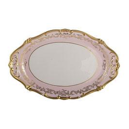 Блюдо овальное  Weimar ЮВЕЛ Розовый 36 см  ( артикул МН 51776 В )