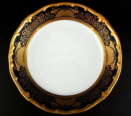 Набор закусочных тарелок Weimar СИМФОНИЯ ЗОЛОТАЯ КОБАЛЬТ 19 см ( артикул МН 5624 В )