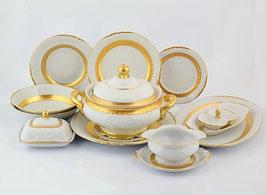 Столовый сервиз Sterne Porcelan МАТОВАЯ ПОЛОСА на 6 персон 27 предметов