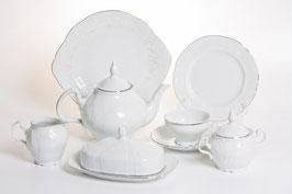 Чайный сервиз Bernadotte Платиновый Ободок на 12 персон 44 предмета