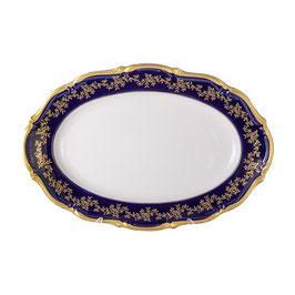 Блюдо овальное МАРИЯ ТЕРЕЗА СИНЯЯ Bavarian Porcelain 33 см