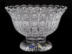 Хрустальная ваза для фруктов Sonne Crystal 25 см
