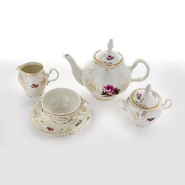 Чайный сервиз ПОЛЕВОЙ ЦВЕТОК Ивори  Bernadotte на 6 персон 15 предметов