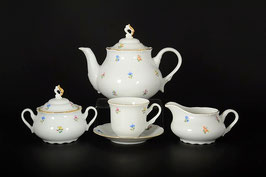 Чайный сервиз КОНСТАНЦИЯ СИНИЙ ЦВЕТОК Thun на 6 персон 15 предметов