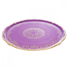 Блюдо для торта Weimar ЮВЕЛ Фиолетовый 33 см ( артикул МН 52375 В )