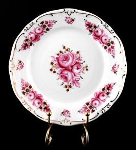 Набор десертных тарелок Weimar РОЗА Розовая  17 см ( артикул МН 10682 В )
