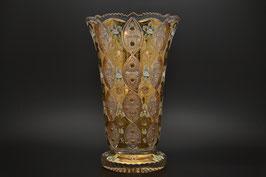 ХРУСТАЛЬ С ЗОЛОТОМ ваза для цветов 42 см