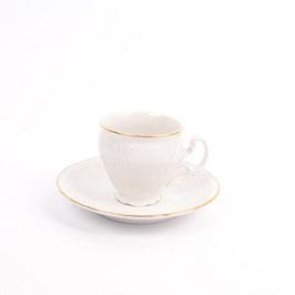 Набор для кофе Bernadotte  ЗОЛОТОЙ ОБОДОК на 6 персон 12 предметов