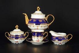 Чайный сервиз КОНСТАНЦИЯ ПОЛЕВОЙ ЦВЕТОК  Thun на 6 персон 15 предметов