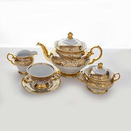 Чайный сервиз Carlsbad ЛИСТ МЕДОВЫЙ на 6 персон 15 предметов