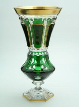 Хрустальная ваза для цветов ARNSTADT АНТИК ЗЕЛЕНЫЙ 42 см ( артикул МН 6957 В )