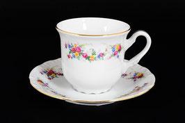 Набор для чая Thun ЦВЕТОЧНЫЙ САРАФАН на 6 персон 12 предметов