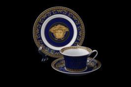 Немецкий фарфор.Пара чайная Rosenthal МЕДУЗА СИНЯЯ 2 предмета ( артикул МН 8056 В )