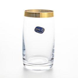 Набор стаканов для воды Bohemia Crystal КЛАУДИЯ ЗОЛОТАЯ ЛЕНТА 250 мл