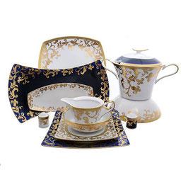 Столовый сервиз Falkenporzellan TOSCA BLUESHADE GOLD на 6 персон 26 предметов