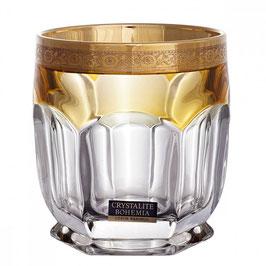 Набор стаканов для виски Bohemia Crystal САФАРИ ЖЕЛТЫЕ 250 мл