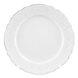 Набор постановочных тарелок Bernadotte Платиновый Ободок 25 см