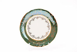 Набор закусочных тарелок Sterne Porcelan ЛИСТ ЗЕЛЕНЫЙ 19 см