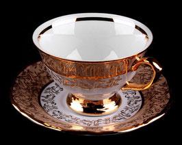 Набор для чая Carlsbad ЛИСТ МЕДОВЫЙ на 6 персон 12 предметов