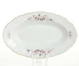 Блюдо овальное РОЗА СЕРАЯ Bernadotte 24 см
