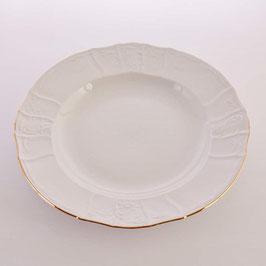 Блюдо круглое глубокое Bernadotte ЗОЛОТОЙ ОБОДОК 32 см