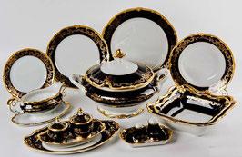 Немецкий столовый сервиз Weimar ЮВЕЛ СИНИЙ на 6 персон 30 предметов ( артикул МН 116 В )