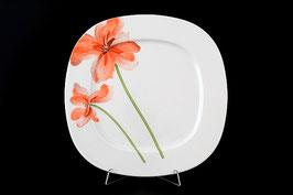 Набор подстановочных тарелок ЛЕОН КРАСНЫЕ МАКИ Thun 27 см