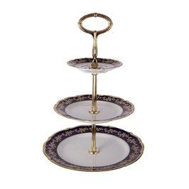 Горка-этажерка трех ярусная МАРИЯ ТЕРЕЗА СИНЯЯ Bavarian Porcelain