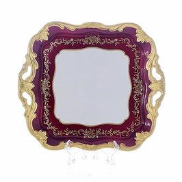 Блюдо квадратное Weimar ЮВЕЛ Красный 30 см ( артикул МН 6234 В )