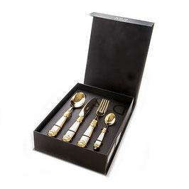 Набор столовых приборов Domus SIENA GOLD на 6 персон 24 предмета
