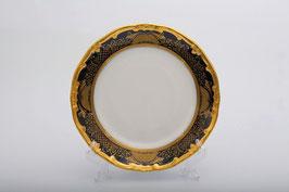 Набор десертных тарелок Weimar СИМФОНИЯ ЗОЛОТАЯ КОБАЛЬТ 17 см ( артикул МН 4319 В )