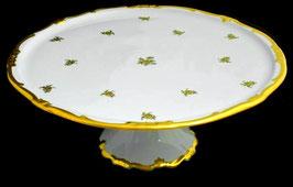 Блюдо для торта Weimar РОЗА ЗОЛОТАЯ 33 см ( артикул МН 5738 В )