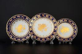 Набор тарелок для сервировки стола КОНСТАНЦИЯ РОЗА ЗОЛОТАЯ  Thun 18 штук