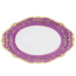 Блюдо овальное Weimar ЮВЕЛ Фиолетовый 36 см ( артикул МН 54868 В )