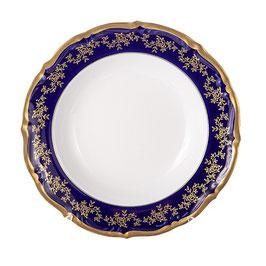 Набор глубоких тарелок МАРИЯ ТЕРЕЗА СИНЯЯ Bavarian Porcelain 23 см