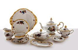 Немецкий чайный сервиз Weimar МЕЙСЕНСКИЙ БУКЕТ на 6 персон 30 предметов ( артикул МН 29120 В )