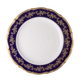 Блюдо круглое МАРИЯ ТЕРЕЗА СИНЯЯ Bavarian Porcelain 32 см