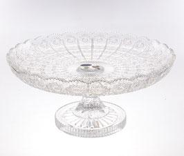 Хрустальная ваза для фруктов Sonne Crystal 35 см