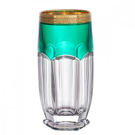 Набор стаканов Bohemia Crystal САФАРИ ЗЕЛЕНЫЕ 350 мл